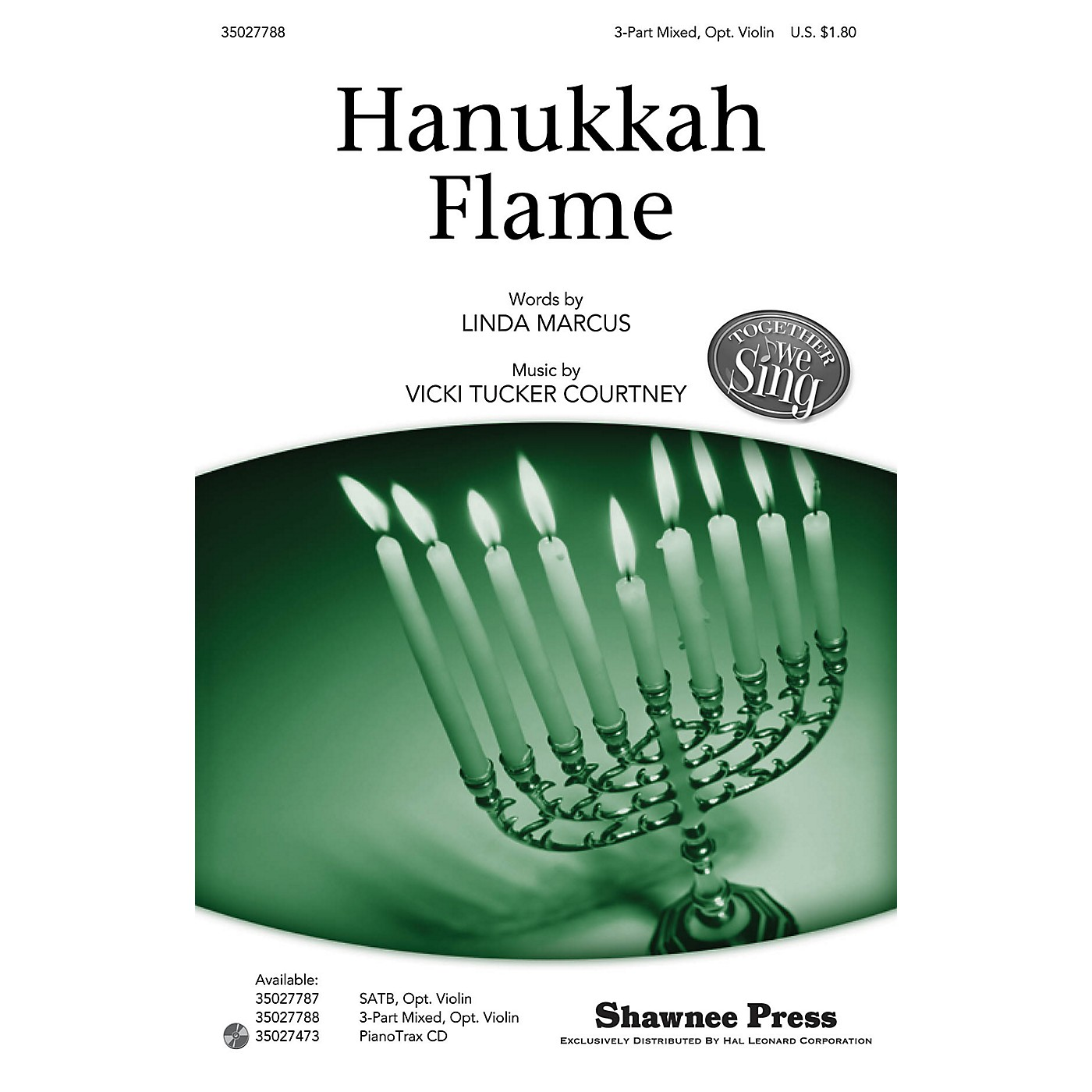 Shawnee Press Hanukkah Flame (Together We Sing Series) 3-PART MIXED composed by Vicki Tucker Courtney thumbnail