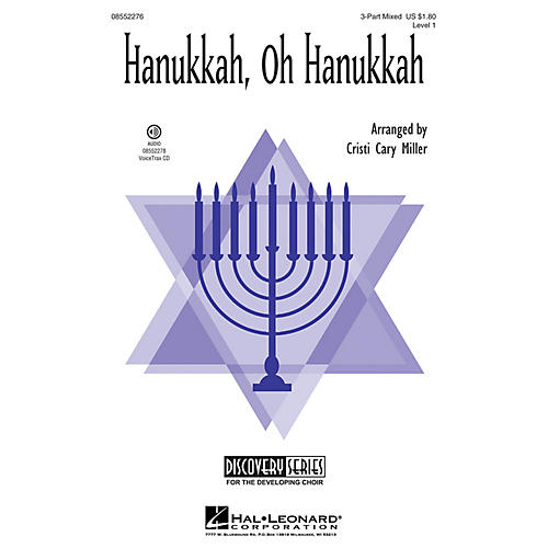 Hal Leonard Hanukkah, Oh Hanukkah (Discovery Level 1) 2-Part Arranged by Cristi Cary Miller thumbnail