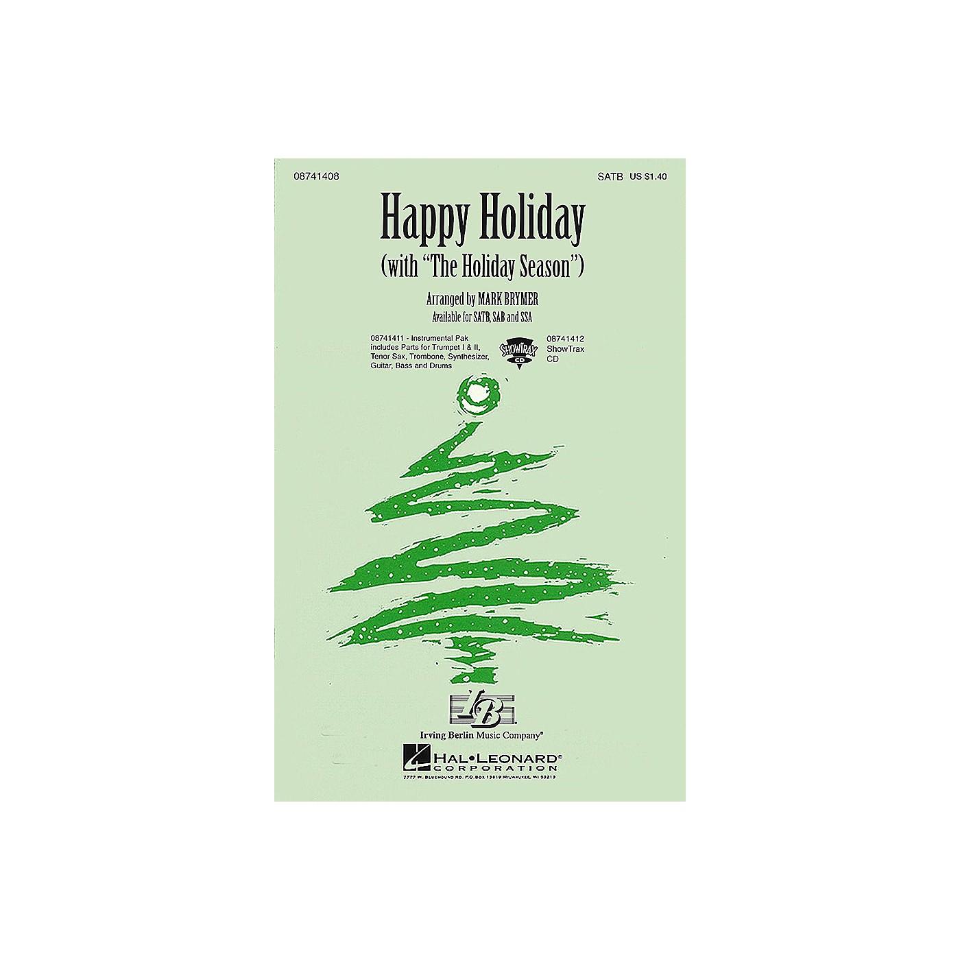 Hal Leonard Happy Holiday (with The Holiday Season) SATB arranged by Mark Brymer thumbnail