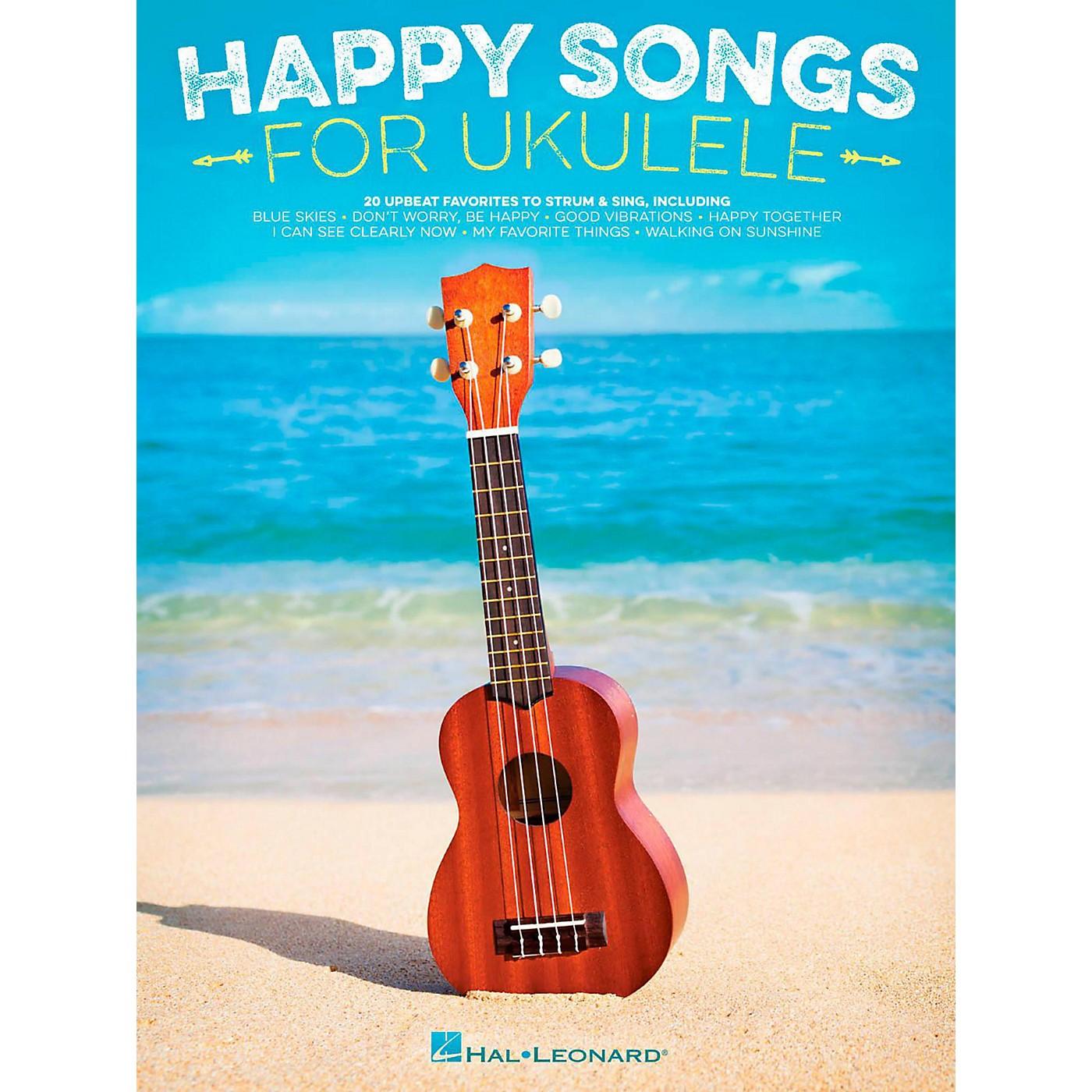 Hal Leonard Happy Songs for Ukulele - 20 Upbeat Favorites to Strum & Sing thumbnail
