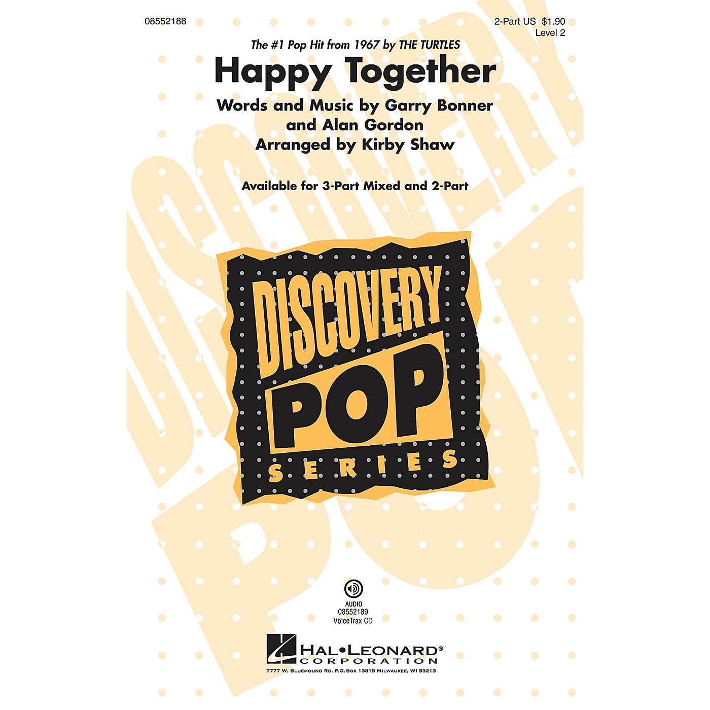 Hal Leonard Happy Together (Discovery Level 2) VoiceTrax CD Arranged by Kirby Shaw thumbnail