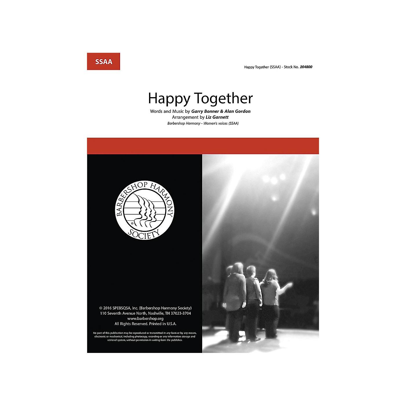Hal Leonard Happy Together SSAA A Cappella arranged by Liz Garnett thumbnail