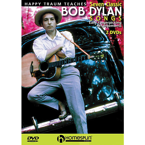 Homespun Happy Traum Teaches Seven Classic Bob Dylan Songs on Guitar 2 DVD Set-thumbnail