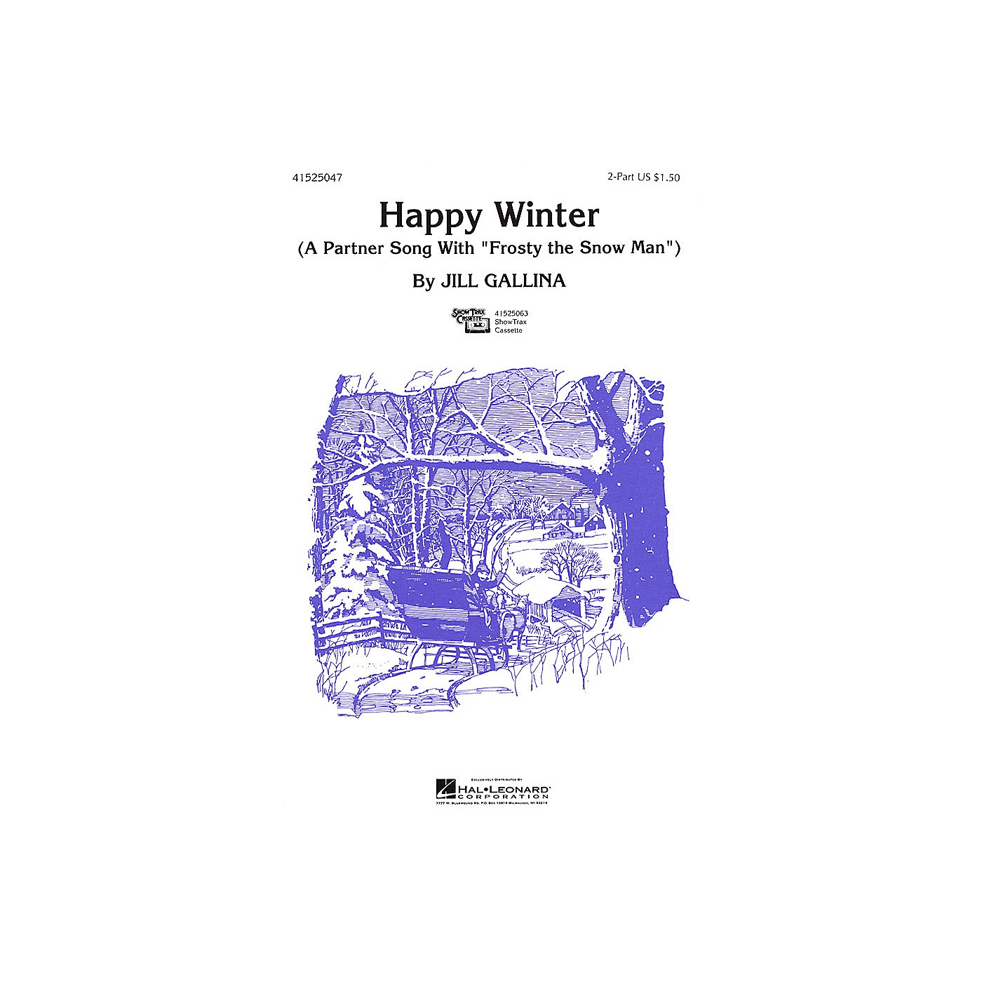 Hal Leonard Happy Winter 2-Part arranged by Jill Gallina thumbnail