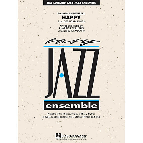 Hal Leonard Happy (from Despicable Me 2) Jazz Band Level 2 by Pharrell Arranged by John Berry thumbnail