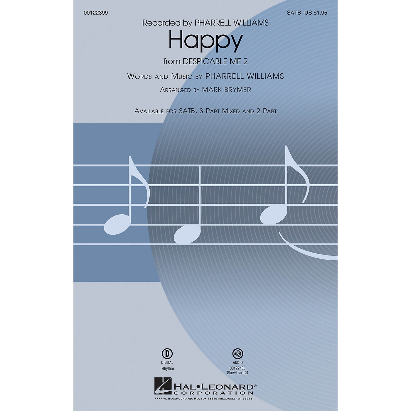Hal Leonard Happy (from Despicable Me 2) TBB by Pharrell Williams Arranged by Mark Brymer thumbnail