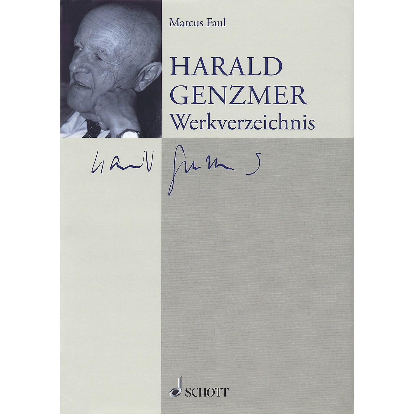 Schott Harald Genzmer: Werkverzeichnis (German Text) Schott Series Hardcover by Harald Genzmer thumbnail