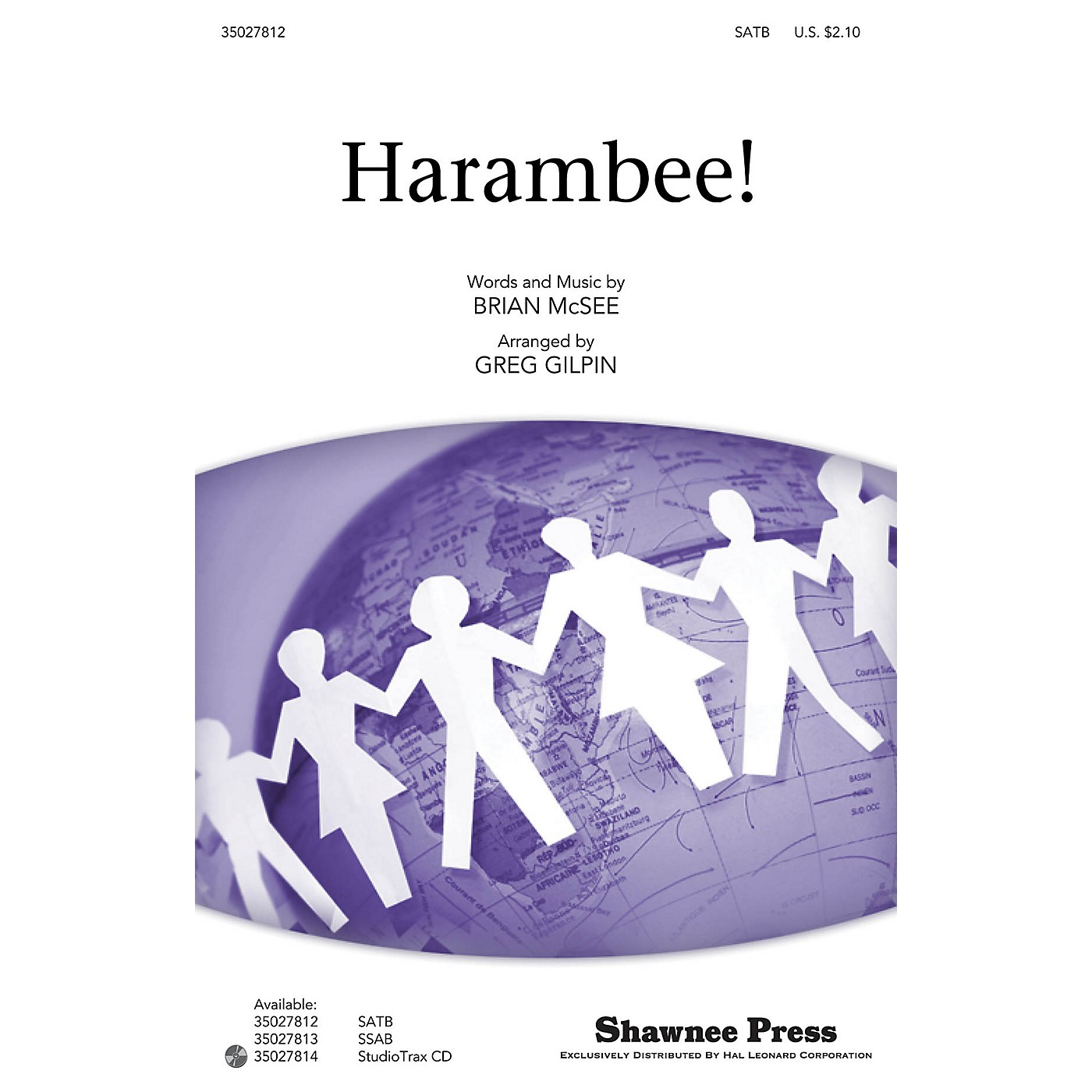 Shawnee Press Harambee! (Together We Sing Series) Studiotrax CD Arranged by Greg Gilpin thumbnail