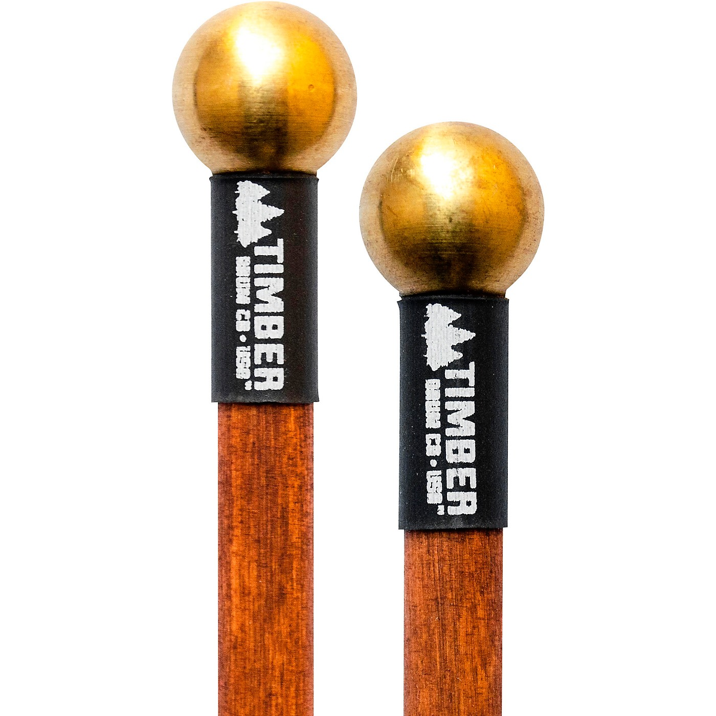Timber Drum Company Hard Brass Bell Mallets with Birch Handles thumbnail