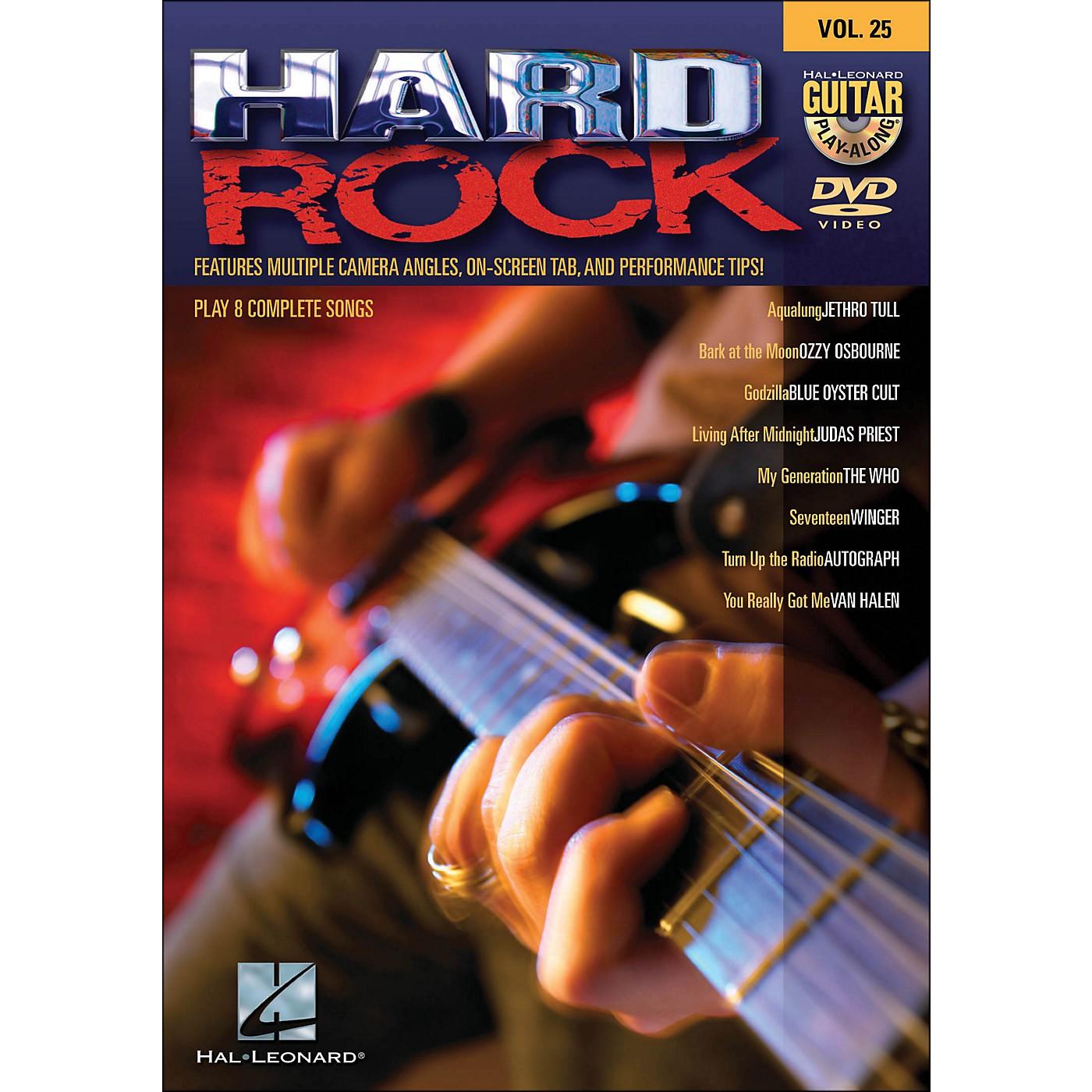 Hal Leonard Hard Rock - Guitar Play-Along DVD Volume 25 thumbnail