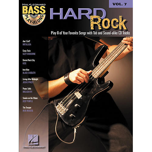 Hal Leonard Hard Rock Bass Guitar Play-Along Series Volume 7 Songbook with CD thumbnail