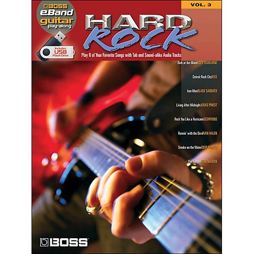 Hal Leonard Hard Rock Guitar Play-Along Volume 3 (Boss eBand Custom Book with USB Stick) thumbnail