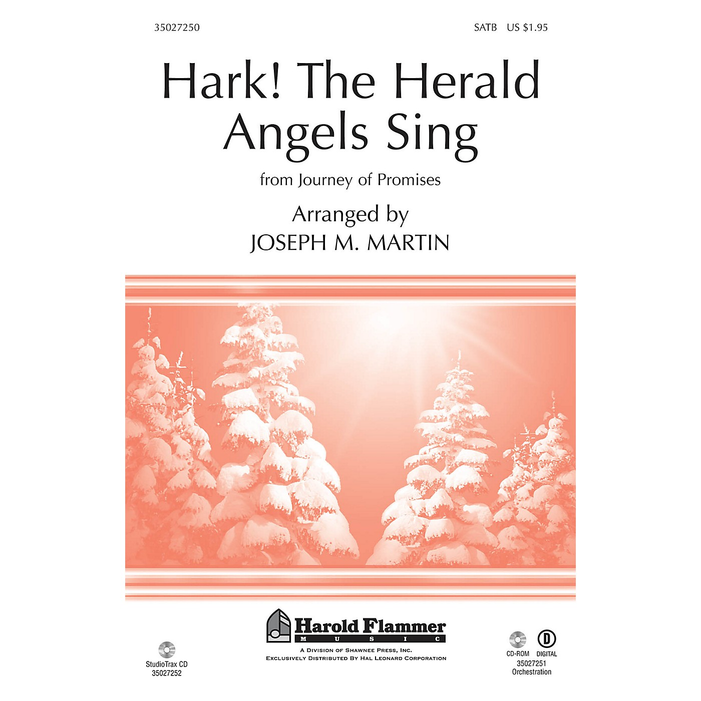 Shawnee Press Hark! The Herald Angels Sing (from Journey of Promises) SATB arranged by Joseph M. Martin thumbnail