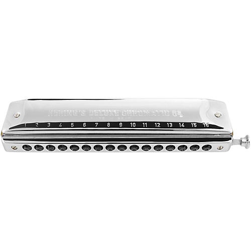 Hering Harmonicas Deluxe Chromatic 64 Harmonica in Key of C thumbnail