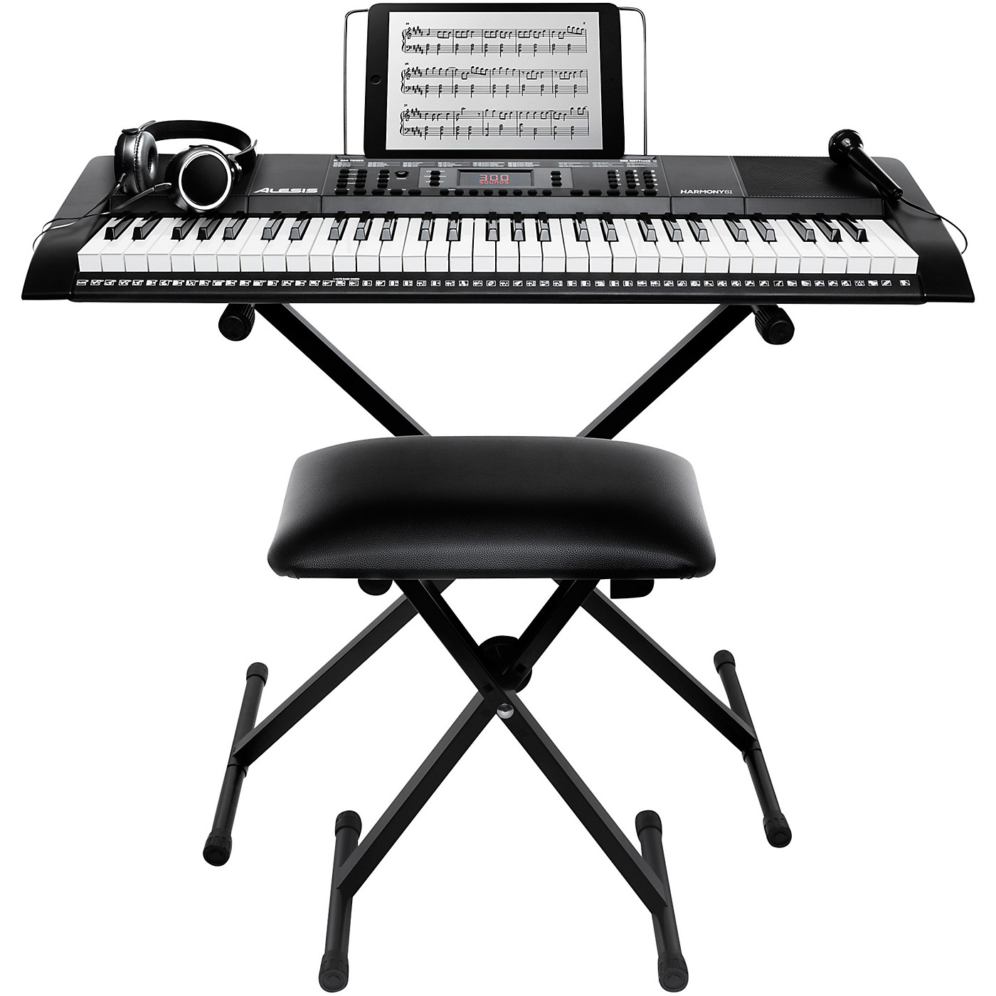 Alesis Harmony 61 MKII 61-Key Keyboard with Stand and Bench thumbnail