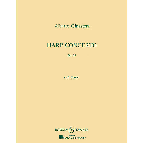 Boosey and Hawkes Harp Concerto, Op. 25 Boosey & Hawkes Scores/Books Series Composed by Alberto E. Ginastera thumbnail