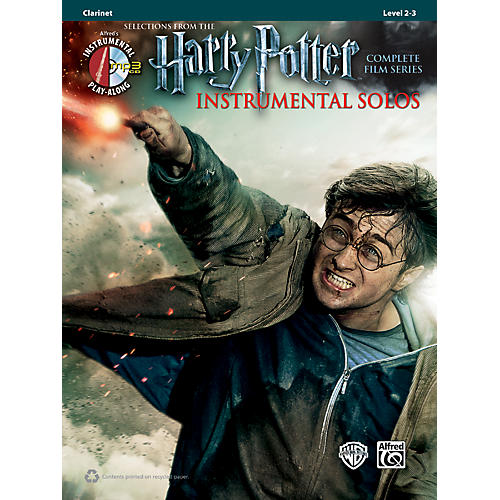 Alfred Harry Potter Instrumental Solos Clarinet Book & MP3 CD thumbnail