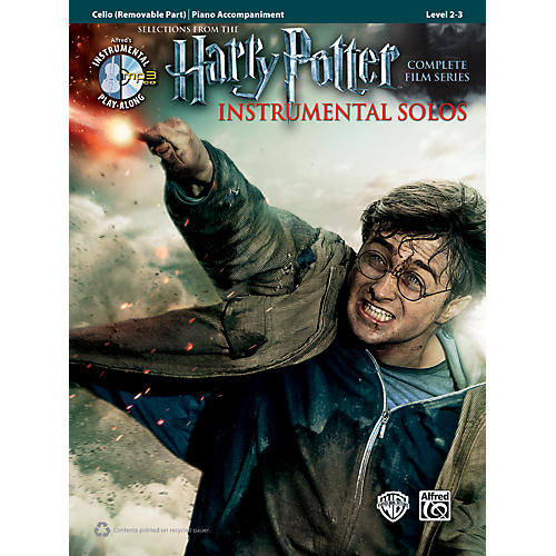 Alfred Harry Potter Instrumental Solos for Strings - Cello (Book/CD) thumbnail