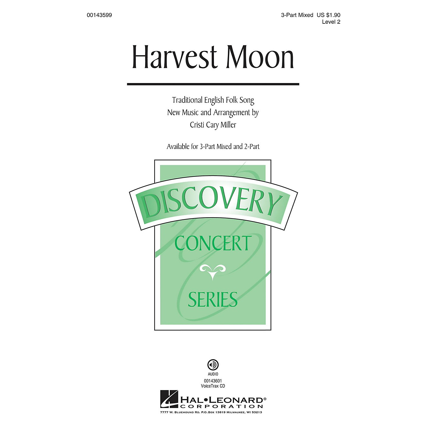 Hal Leonard Harvest Moon (Discovery Level 2) 3-Part Mixed arranged by Cristi Cary Miller thumbnail