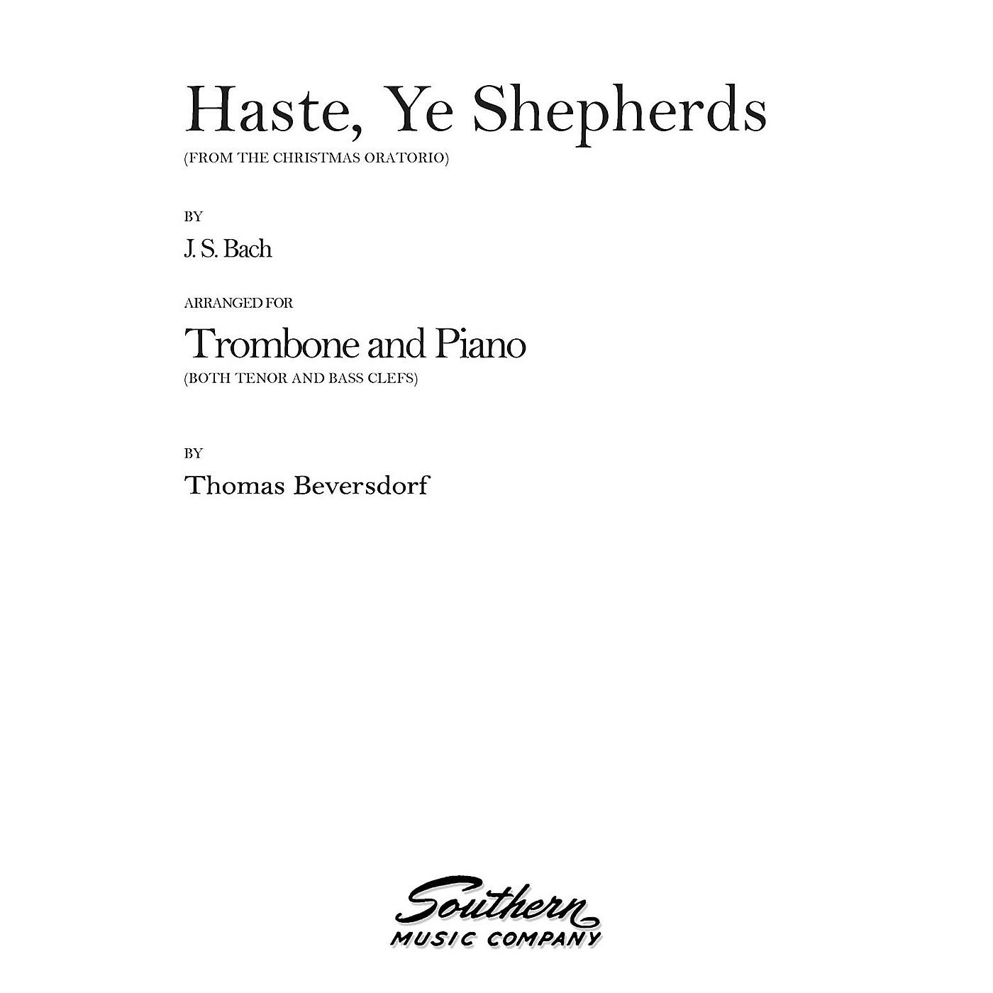 Southern Haste, Ye Shepherds (Trombone) Southern Music Series Arranged by Thomas Beversdorf thumbnail