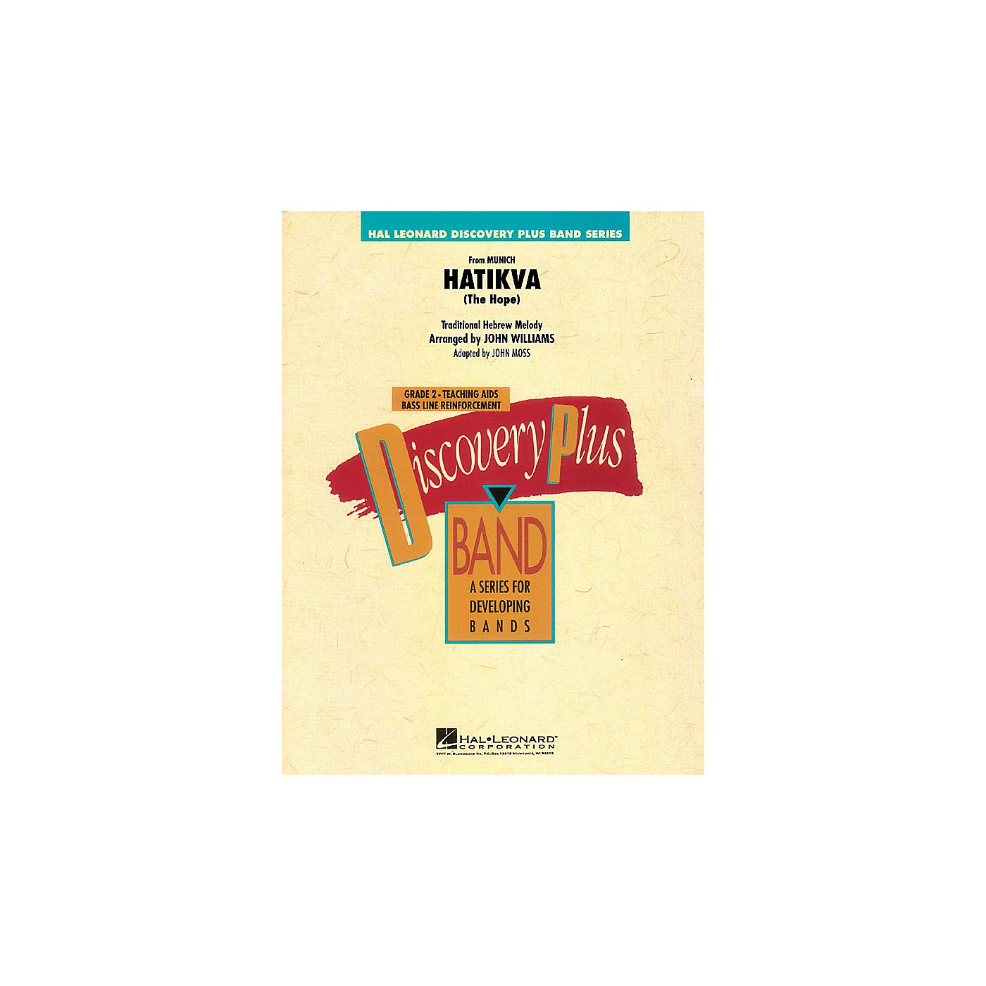 Hal Leonard Hatikva (The Hope) (from Munich) - Discovery Plus Concert Band Series Level 2 arranged by John Moss thumbnail