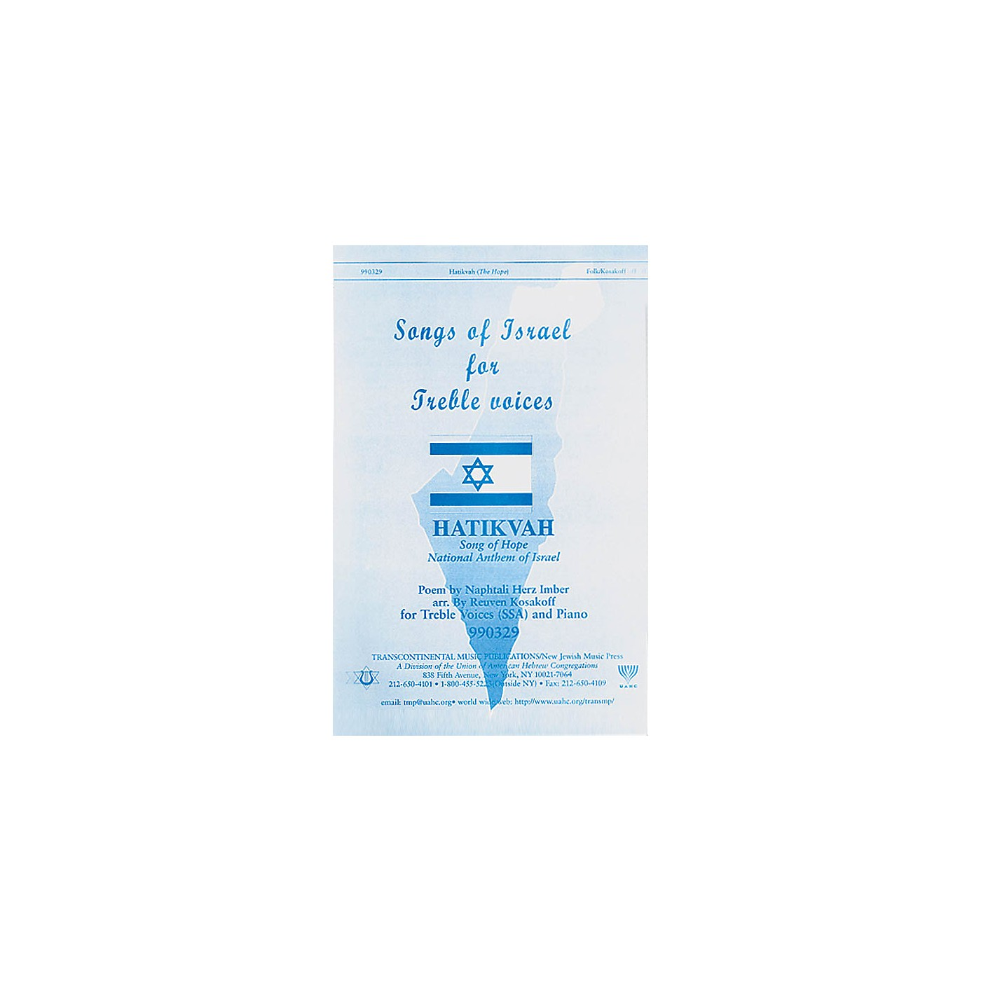 Transcontinental Music Hatikvah - Song of Hope (National Anthem of Israel) SSA arranged by Reuven Kosakoff thumbnail