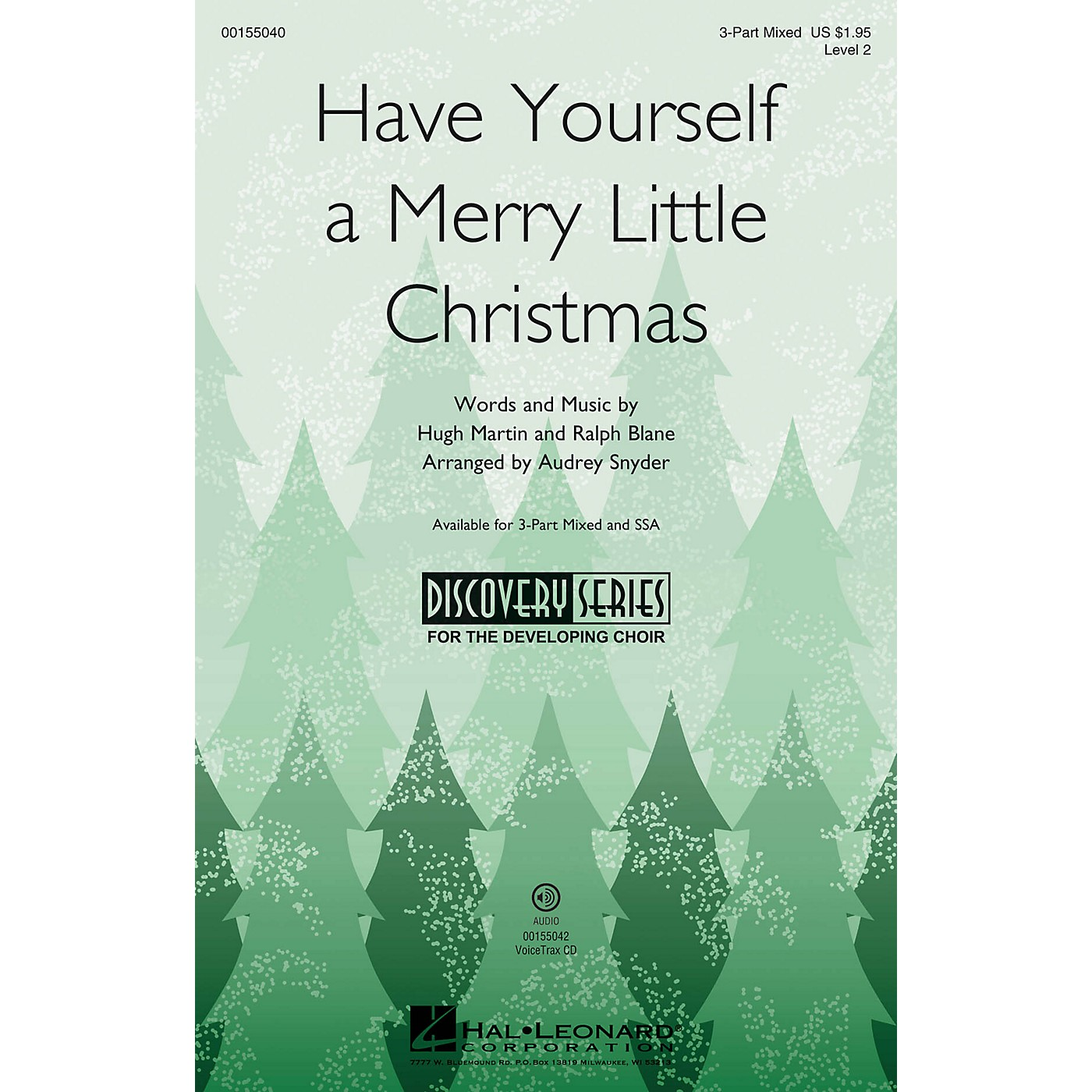 Hal Leonard Have Yourself a Merry Little Christmas (Discovery Level 2) VoiceTrax CD Arranged by Audrey Snyder thumbnail