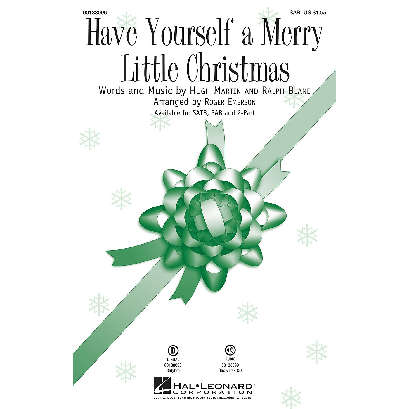 Hal Leonard Have Yourself a Merry Little Christmas SAB arranged by Roger Emerson thumbnail