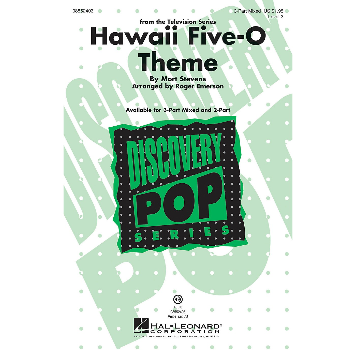 Hal Leonard Hawaii Five-O Theme (Discovery Level 3) 3-Part Mixed arranged by Roger Emerson thumbnail
