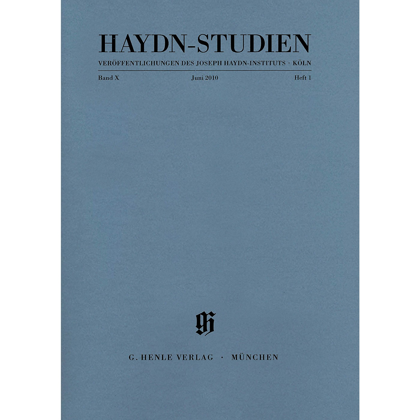 G. Henle Verlag Haydn-Studien, Vol. 10, No. 1 (June 2010) Henle Periodicals Series Softcover by Franz Josef Haydn thumbnail