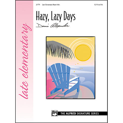 Alfred Hazy Lazy Days Late Elementary Piano Sheet thumbnail