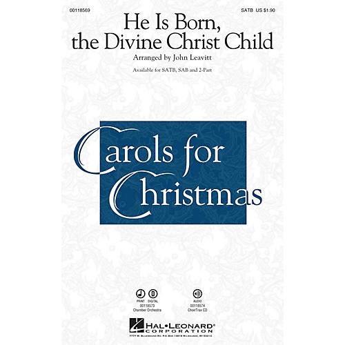 Hal Leonard He Is Born, the Divine Christ Child SAB Arranged by John Leavitt thumbnail