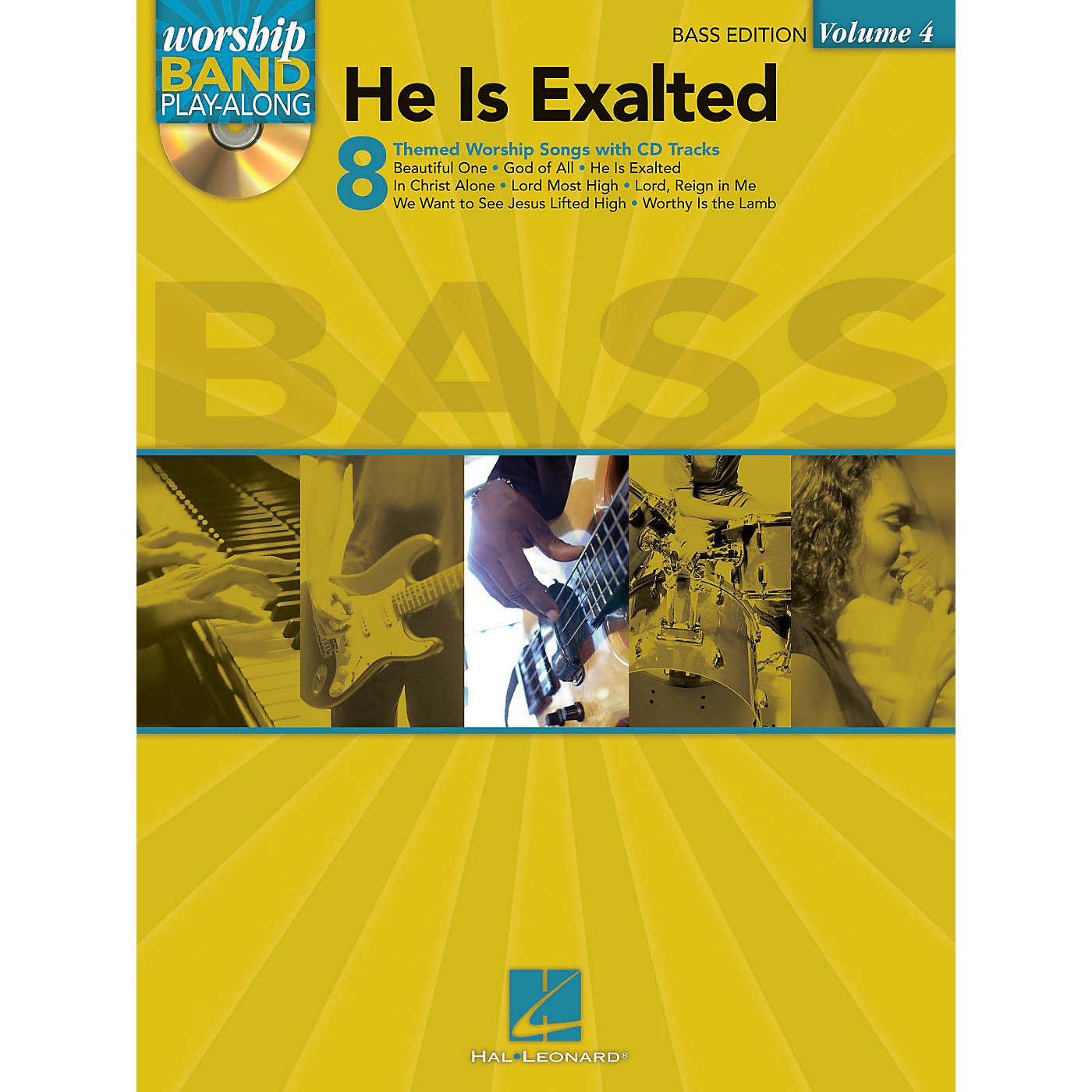 Hal Leonard He Is Exalted - Bass Edition Worship Band Play-Along Series Softcover with CD Composed by Various thumbnail