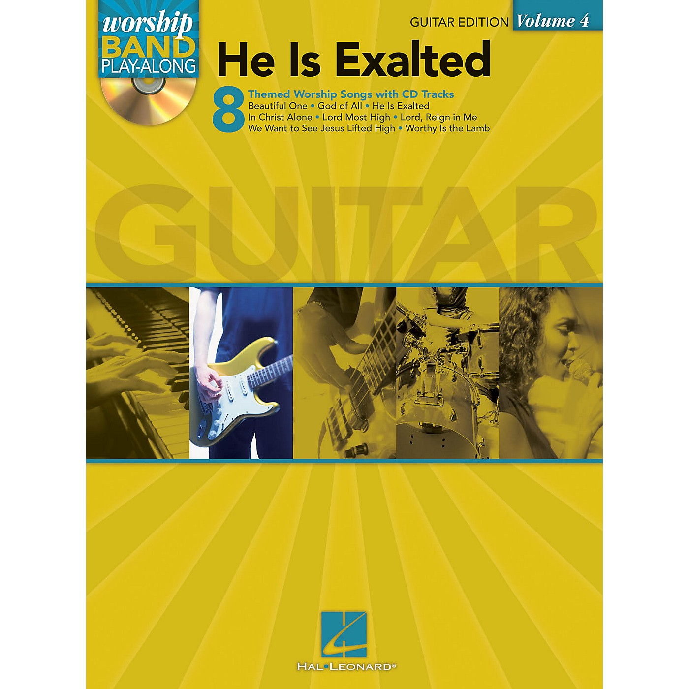 Hal Leonard He Is Exalted - Guitar Edition Worship Band Play-Along Series Softcover with CD Composed by Various thumbnail