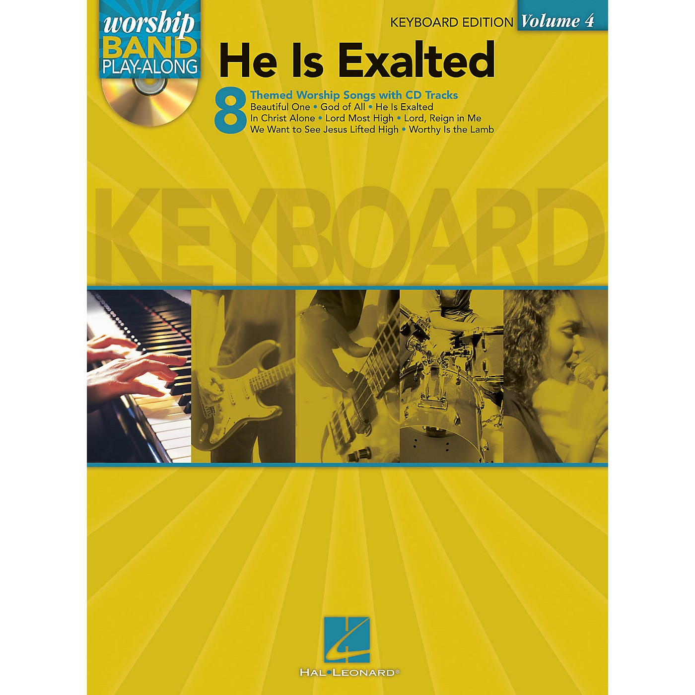 Hal Leonard He Is Exalted - Keyboard Edition Worship Band Play-Along Series Softcover with CD Composed by Various thumbnail