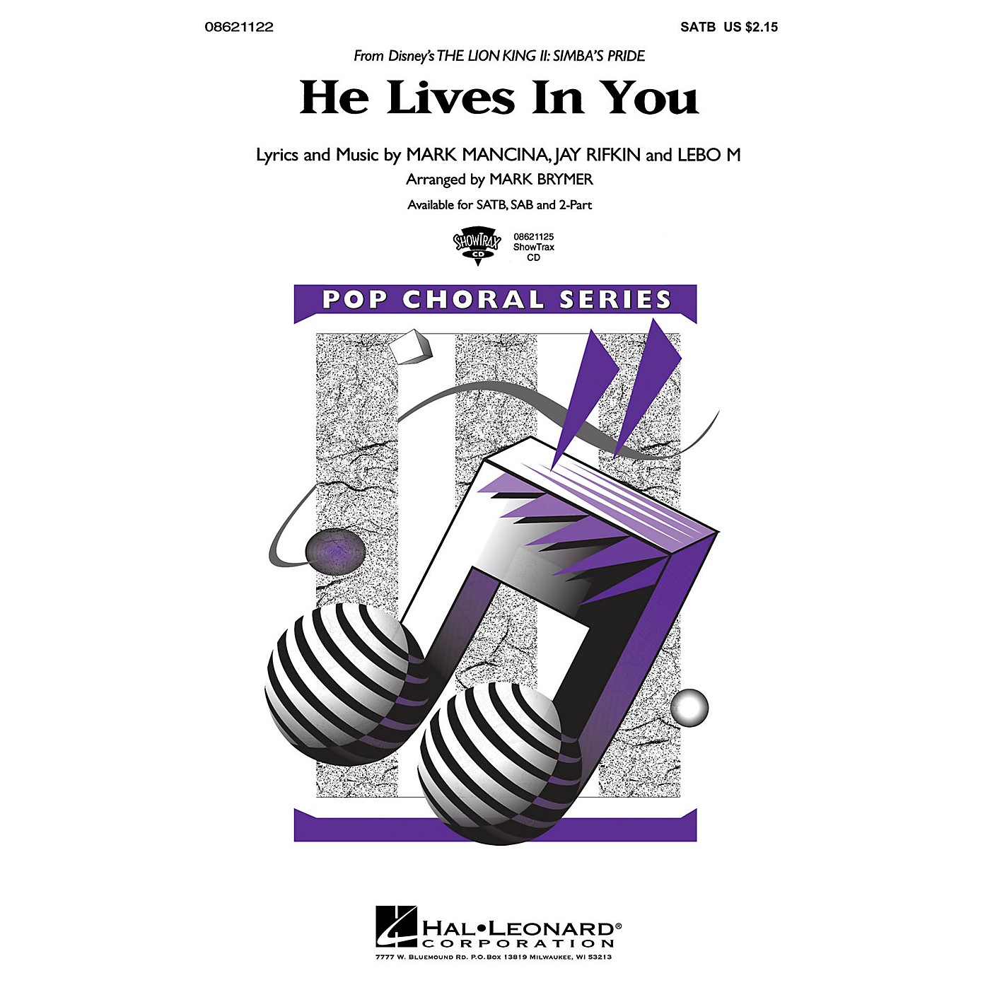 Hal Leonard He Lives in You (from The Lion King II: Simba's Pride) ShowTrax CD Arranged by Mark Brymer thumbnail
