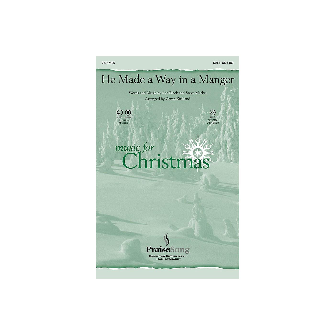 PraiseSong He Made a Way in a Manger CHOIRTRAX CD Arranged by Camp Kirkland thumbnail