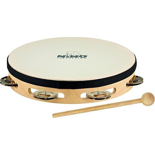 Nino Headed Wood Tambourine w/Single Row of Chimes-thumbnail