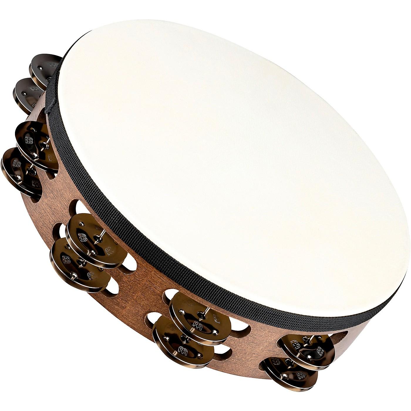 MEINL Headed Wood Tambourine with Double Row Steel Jingles thumbnail