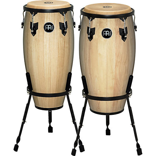 Meinl Headliner Series 11 and 12 Inch Wood Conga Set with Basket Stands thumbnail