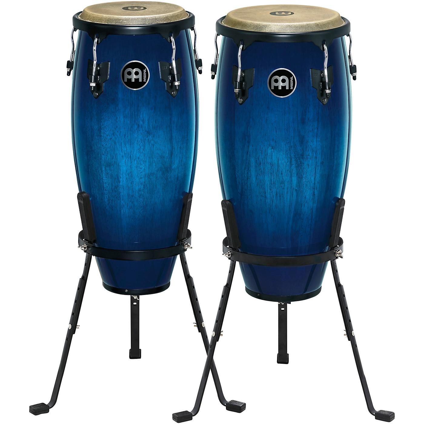 Meinl Headliner Series Wood Conga Pair with Basket Stands in Ocean Blue Burst thumbnail