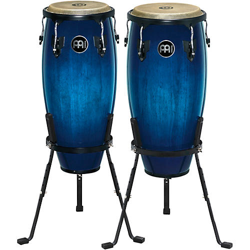 Meinl Headliner Series Wood Conga Pair with Basket Stands in Ocean Blue Burst thumbnail