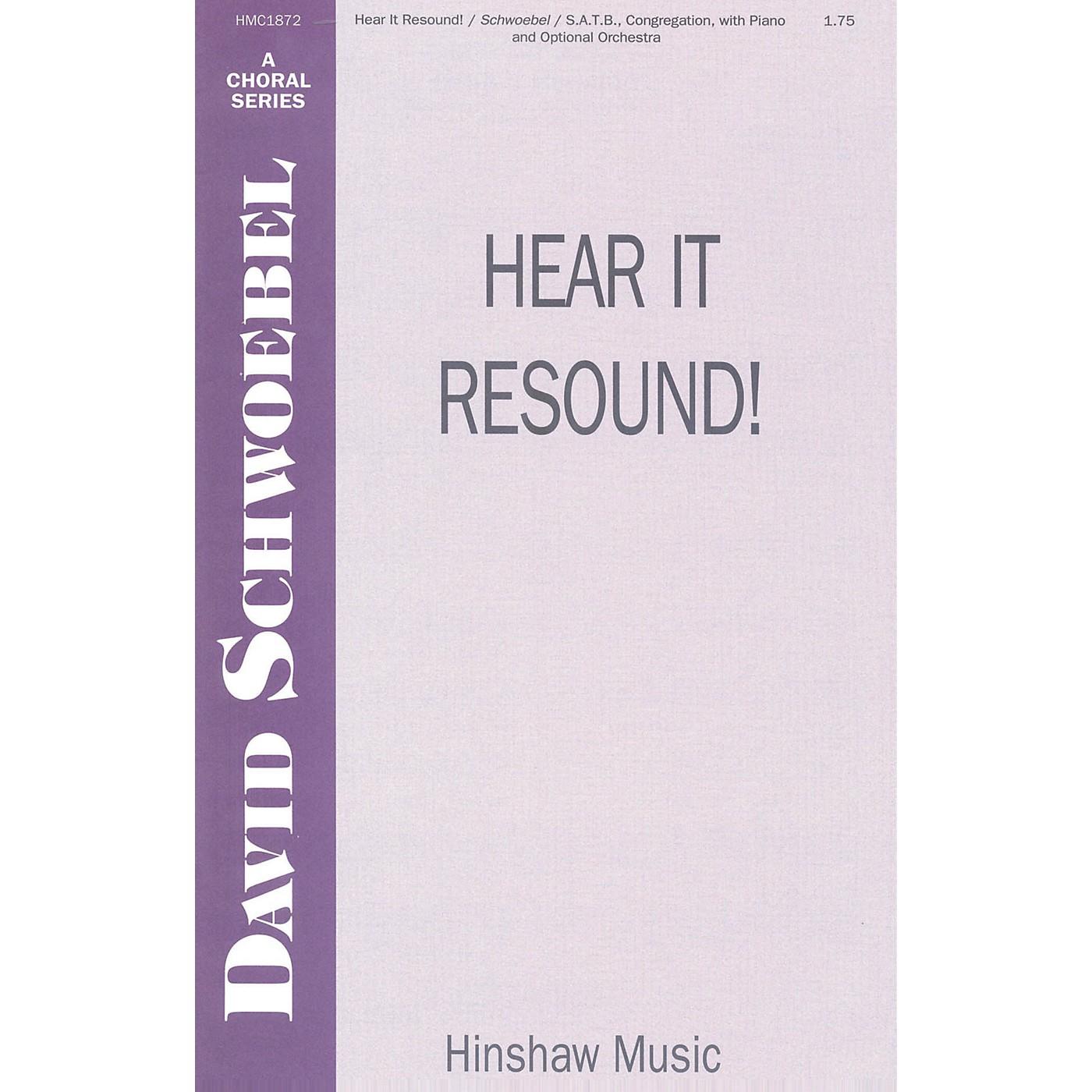 Hinshaw Music Hear It Resound SATB composed by David Schwoebel thumbnail