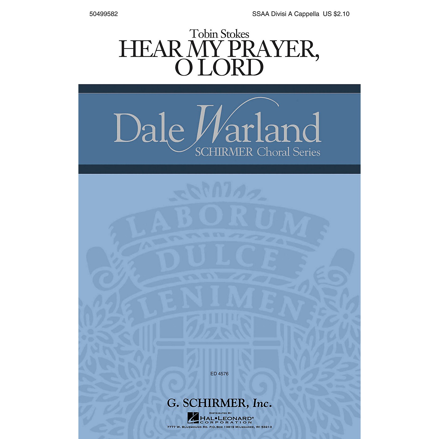 G. Schirmer Hear My Prayer, Oh Lord (Dale Warland Choral Series) SSA Div A Cappella composed by Tobin Stokes thumbnail