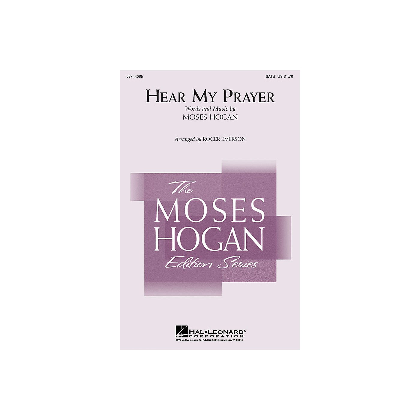 Hal Leonard Hear My Prayer SATB arranged by Roger Emerson thumbnail