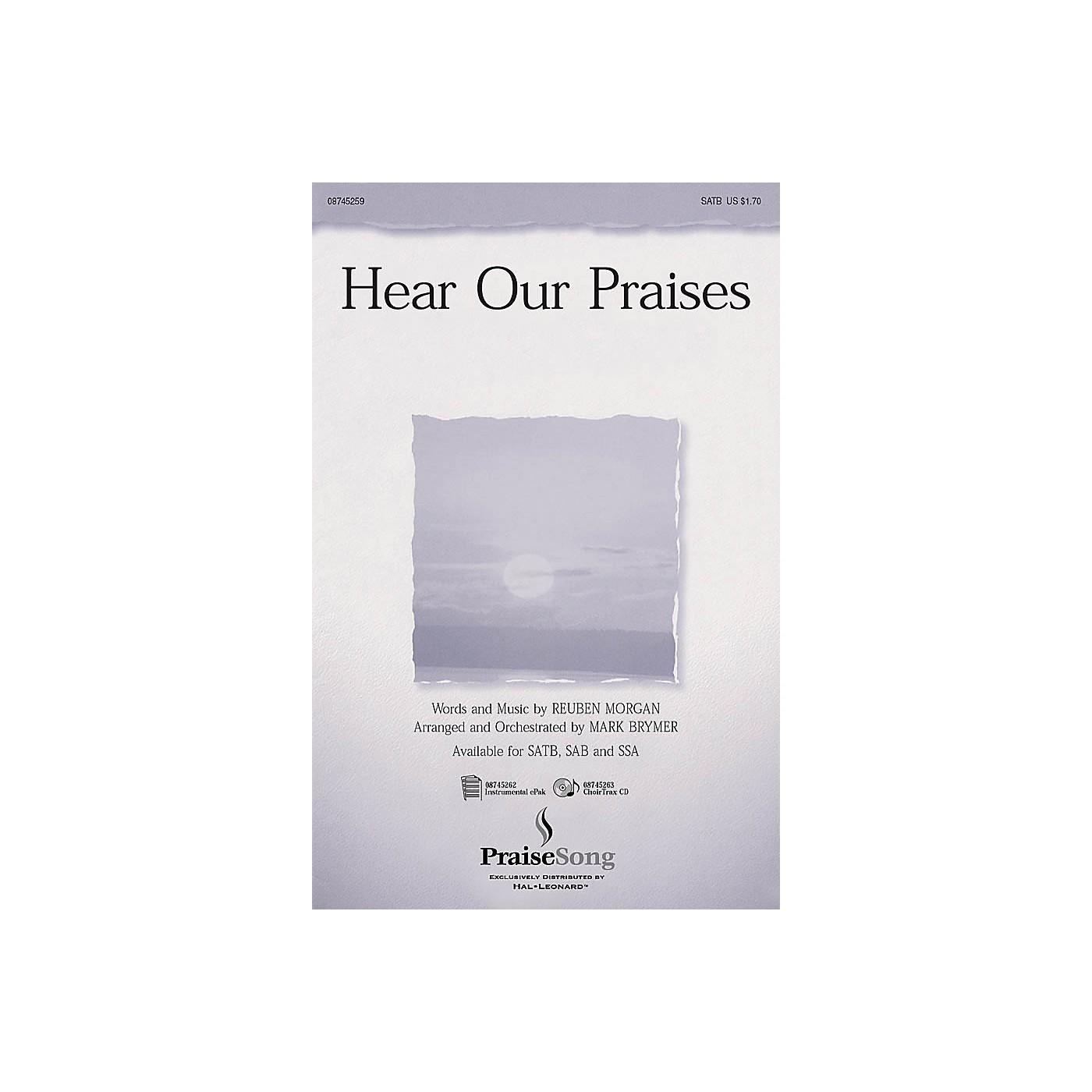 PraiseSong Hear Our Praises SATB arranged by Mark Brymer thumbnail