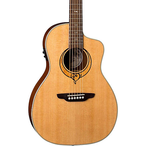 Luna Guitars Heartsong Parlor with USB Acoustic-Electric Guitar thumbnail