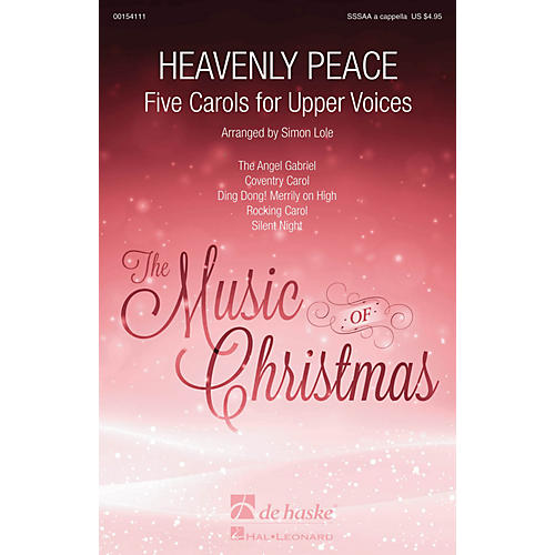 De Haske Music Heavenly Peace (Five Carols for Upper Voices) SSSAA A Cappella arranged by Simon Lole thumbnail