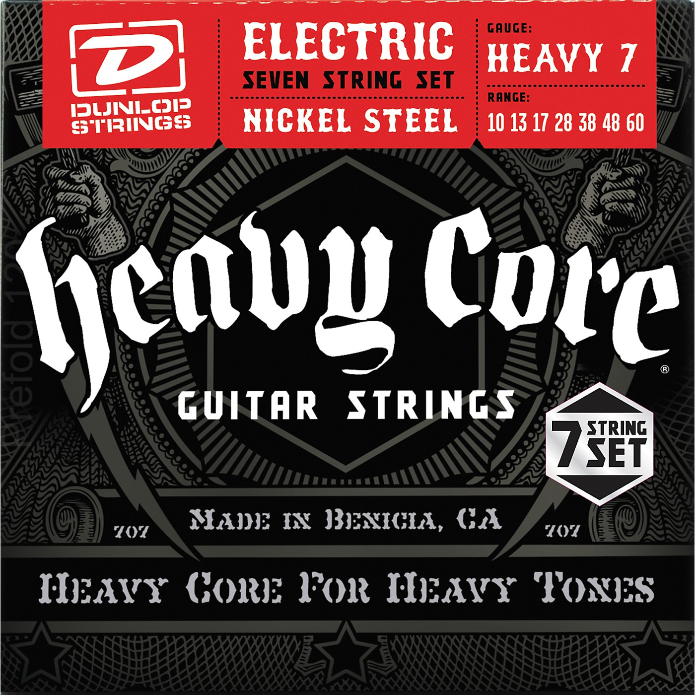 Dunlop Heavy Core 7-String Electric Guitar Strings - Heavy Gauge thumbnail