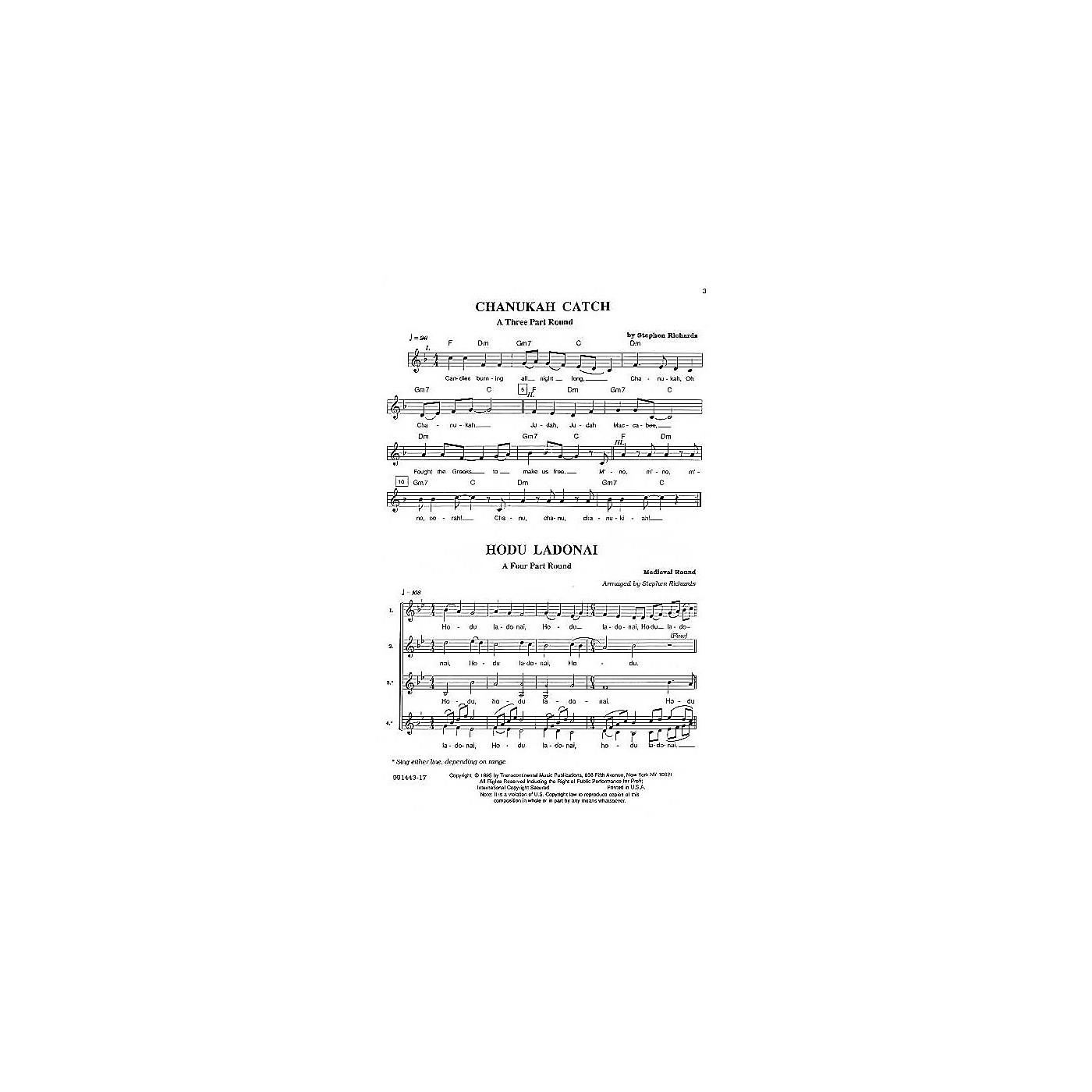 Transcontinental Music Hebrew Part Songs And Rounds composed by Stephen Richards thumbnail